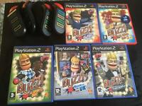 PlayStation 2 (PS2) bundle: console with 25 games incl. Buzz and Singstar