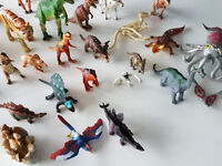 large selection of dinosaur figures