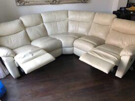 Harvey's 6 seat leather sofa