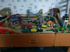 Child's Train Table