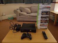 Xbox 360 S 300Gb + 32 games (GTA V, Batman, COD, Portal 2) + media remote
