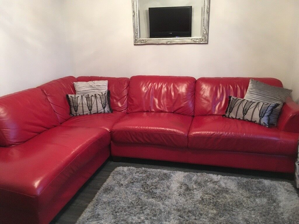 Red corner sofas red sofas for 298818 corner sofa bed with for Red corner sofa