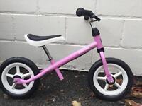 Kettler girls balance bike in pink