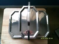 vintage folding tray stainless steel