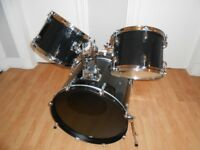 Bass drum and set of toms plus drum stool - excellent condition!