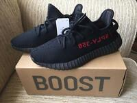 Adidas Yeezy Boost 350 V2 (Core Black/Red) UK 8