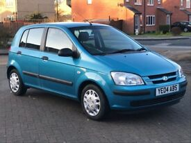 HYUNDAI GETZ 1.1L GSI 5 DOOR HATCHBACK IN BLUE.