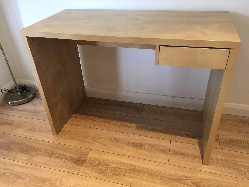 Ikea malm bureau malm bureau met uittrekbaar blad ikea ikea