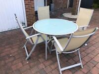 Garden Table & 4 Chairs Set