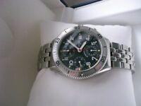 Eterna Airforce III automatic mechanical chronograph wristwatch - NOS - Swiss - Circa '00