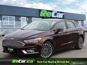 2017 Ford Fusion Titanium AWD | HEATED LEATHER | NAV | BACK U...