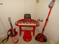 Early Learning Centre Musical Instruments (Keyboard, Guitar, Microphone)