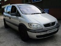 2003 VAUXHALL ZAFIRA 1.6 PETROL - REQUIRES SOME TLC
