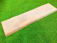Timber Stone Wood Effect Railway Sleeper Stepping Stones