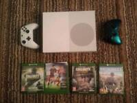 Xbox One S Like New, with Games and Controllers