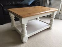 Pine coffee table upcycled with Farrow&Ball