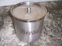 stainless steel round bread bin