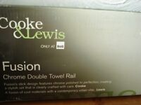 Cooke & Lewis Fusion Chrome Double Towel Rail (Brand new)
