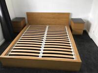 IKEA MALM bed 180cm x 200cm and matching bed side drawers