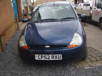 2002 Ford Ka Style 1.3 Petrol Breaking for Parts