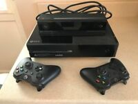 """Pre Loved Xbox 360 """"ONE"""" boxed with extra controller and kinetic sensor 500GB"""