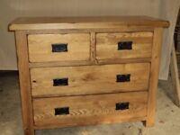Rustic Oak bedroom furniture