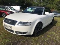52 AUDI A4 CABRIOLET CONVERTIBLE 2.4 MOT 03/2018 FULL HISTORY CAMBELT 2 KEYS TOTALLY MINT PX SWAPS