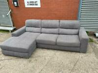 Beautiful grey dfs corner sofa delivery 🚚 sofa suite couch furniture