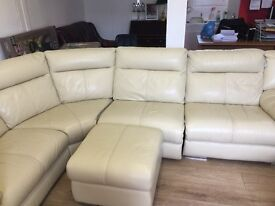 Quality ex gillies secondhand italion leather suites for sale from £395