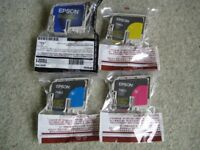 Set of genuine Epson ink jet cartridges. t0321, t0422, t0423, t0424