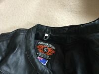 As new worn only a few times size 12 leather jacket with Kevlar on shoulder and elbows.