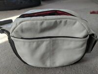 Bugaboo white leather changing bag