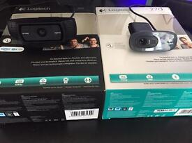 Logitech webcams and stand