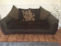 2 & 3 seater sofas with footstall