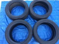 Set of 4 17 inch tyres 234/45/17