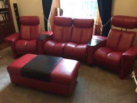 Cinema Sofa and footstool/coffee table