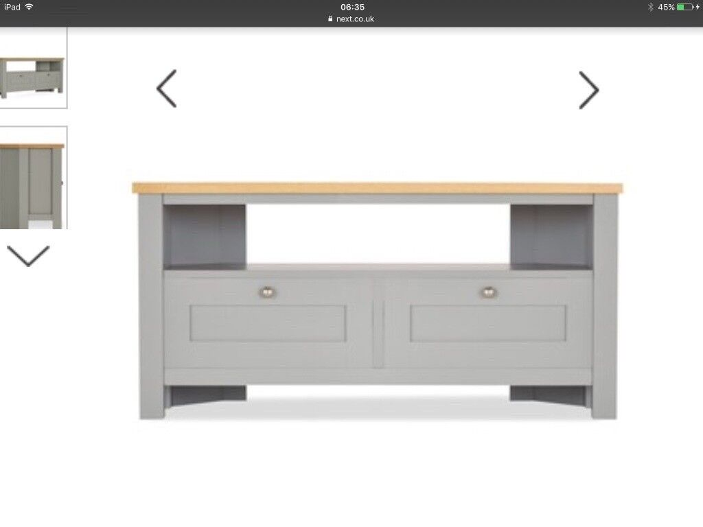 best service 71e31 f492b Next grey Malvern TV unit in excellent condition   in Wetherby, West  Yorkshire   Gumtree