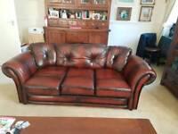 Saxon Leather sofa suite