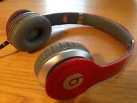 Beats by dr. dre red solo hd headphones. Pristine.