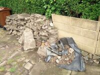 Boulders and rocks for pond