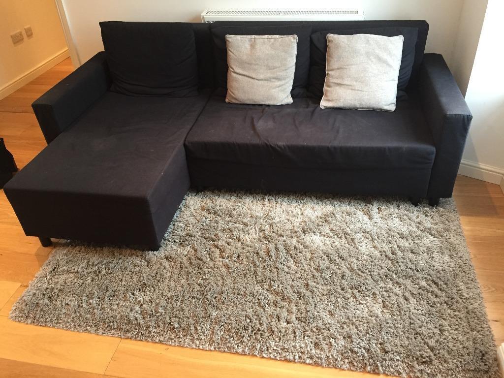 Black L Shaped Sofa Bed Ikea In Stockbridge Edinburgh