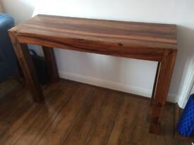 Solid Wood Side Table TV Stand Bar