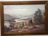 Large wooden framed picture