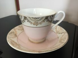 Bone China Cup and Saucer - Pattern in 22KT Gold.