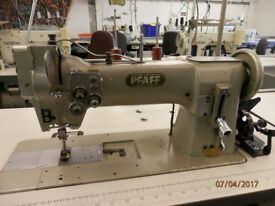 PFAFF Lockstitch Reverse 2-Needle Flip-Up Industrial Sewing Machine, Reduced from £850