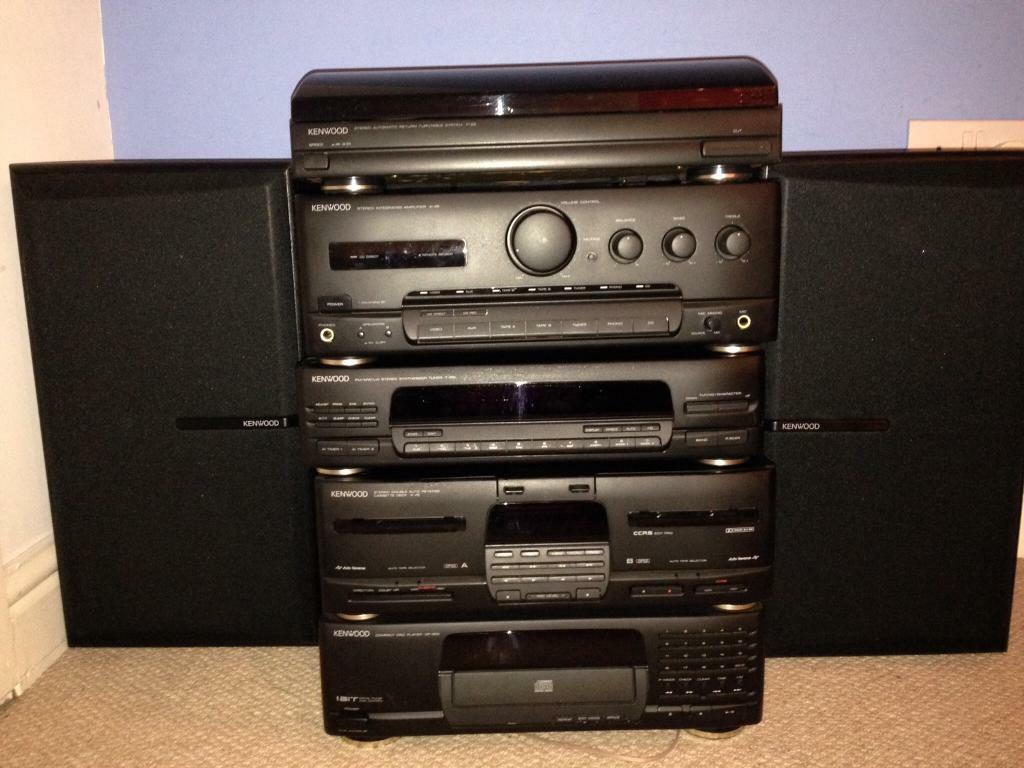 Kenwood Stereo Stacking System Cabinet And Cd Rack
