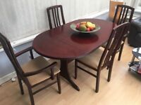 Large extending dining table & chairs - perfect for Easter entertaining