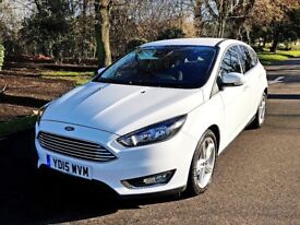 2015 FORD FOCUS 1.5 TDCI TITANIUM + APPEARANCE PACK NEW ENGINE FITTED HPI CLEAR LOW MILEAGE LOOK