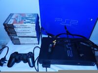 playstation 2 console with 13 games