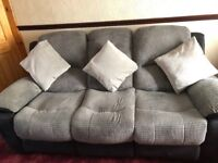 3 Seater Sofa & 2 Chairs (All recliners)